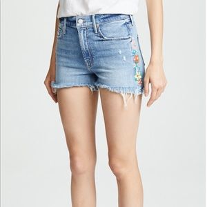 MOTHER Shorts - Mother size 30 floral cutoff shorts